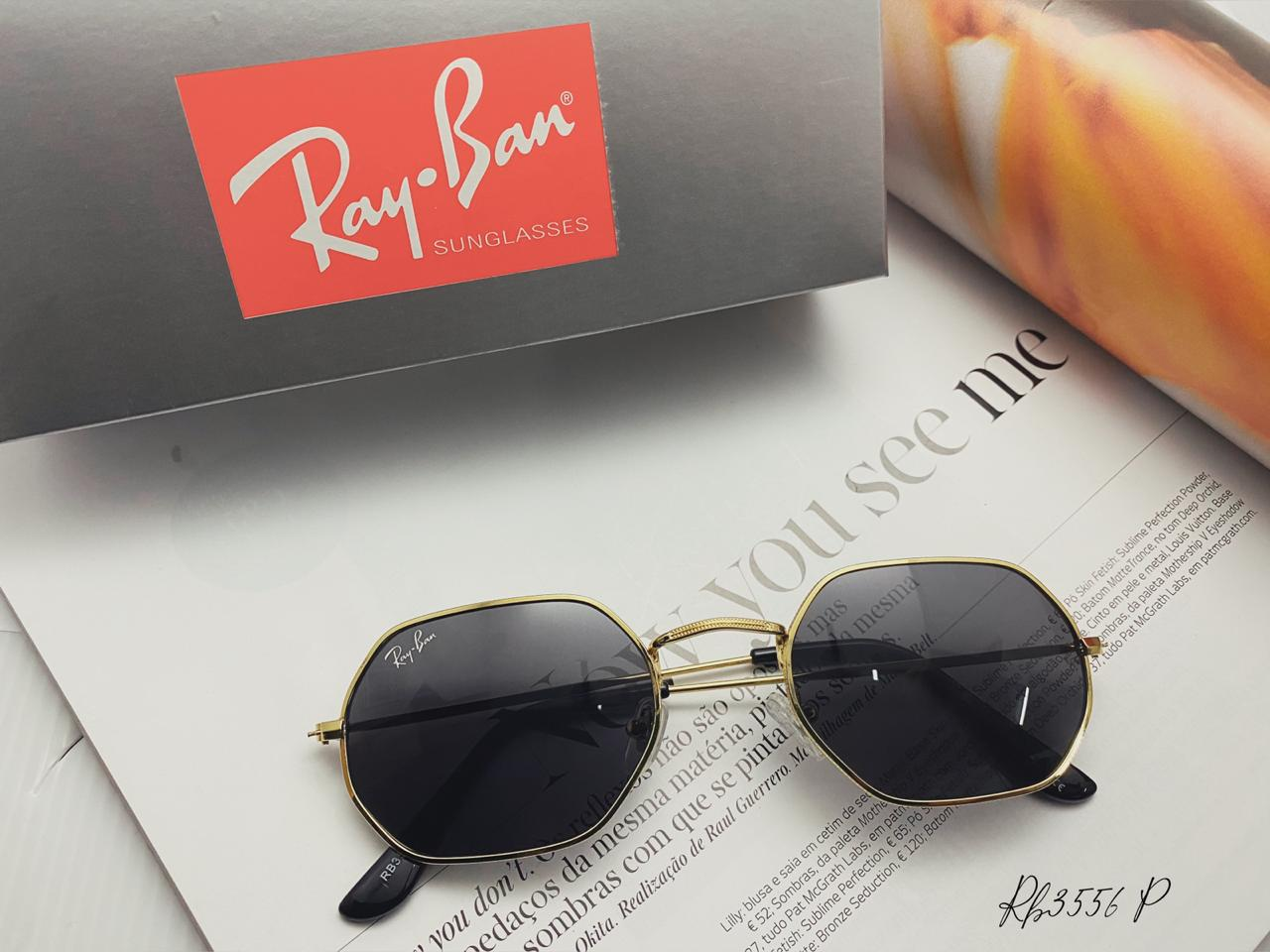 Óculos De Sol Feminino Ray Ban Hexagonal UV 400