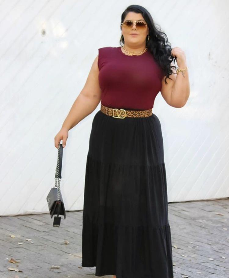 Saia Longa Plus Size - Mariah