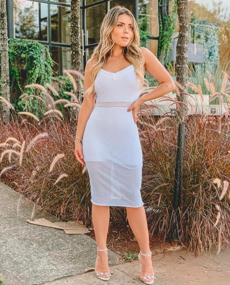 Vestido Curto Branco com Shortinho – Alana