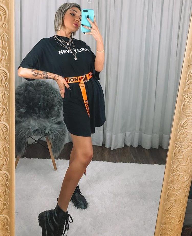 Vestido Curto Feminino Max New York Preto - Isabella