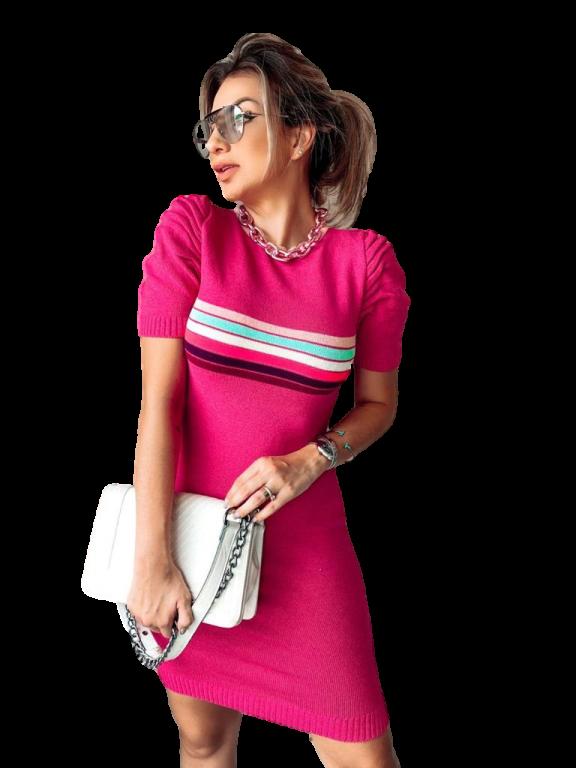 Vestido Curto Feminino Tricot Modal Midi - Luana