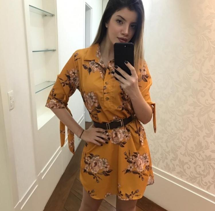 Vestido Chamise Mostarda - Gabriela