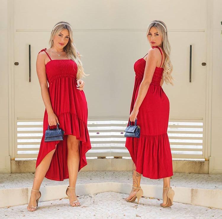Vestido Longo Lastex Alcinha Com Bojo - Keyla