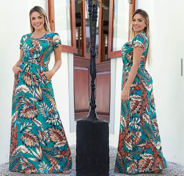 Vestido Longo Manguinha sem Bojo - Kailani