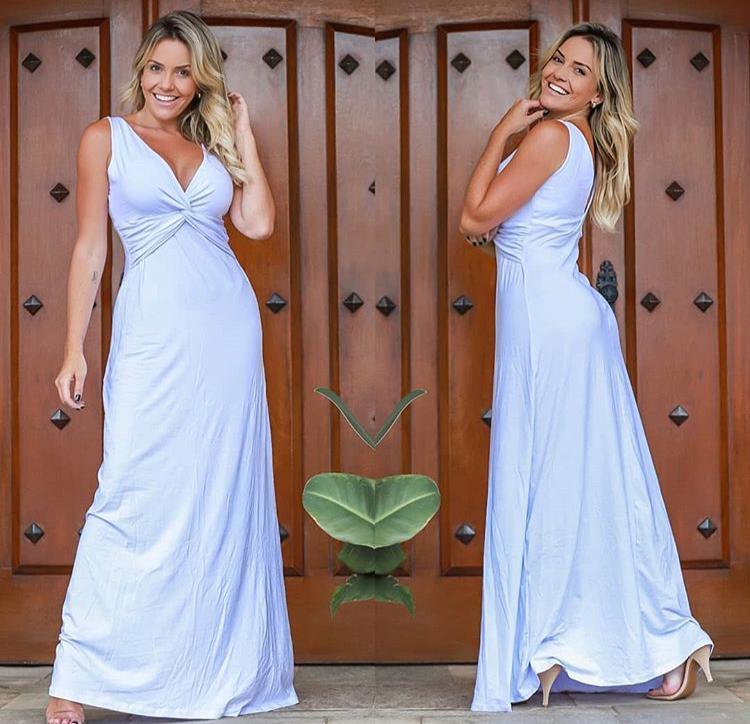 Vestido Longo Regata Branco – Tatiane