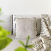 Almofada Decorativa Textura Zigzag Cinza