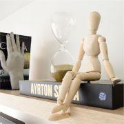 Boneco Articulado de Madeira 30cm