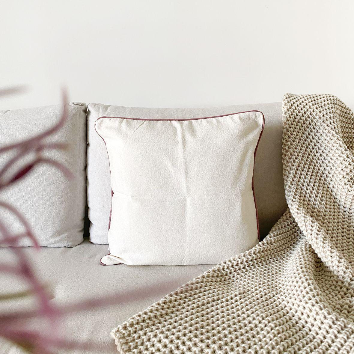 Almofada Decorativa Textura Zigzag Rosa