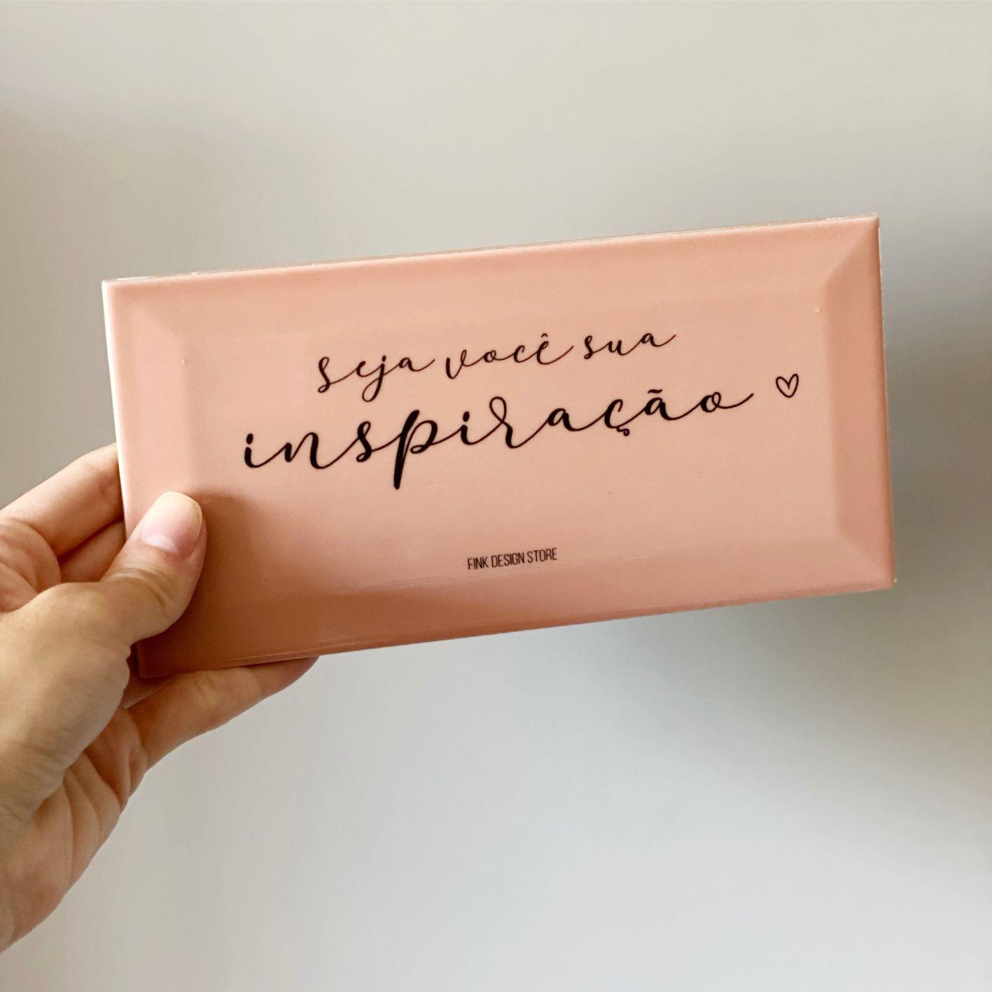 Azulejo Decorativo Rosa Seja Você Sua Inspiração