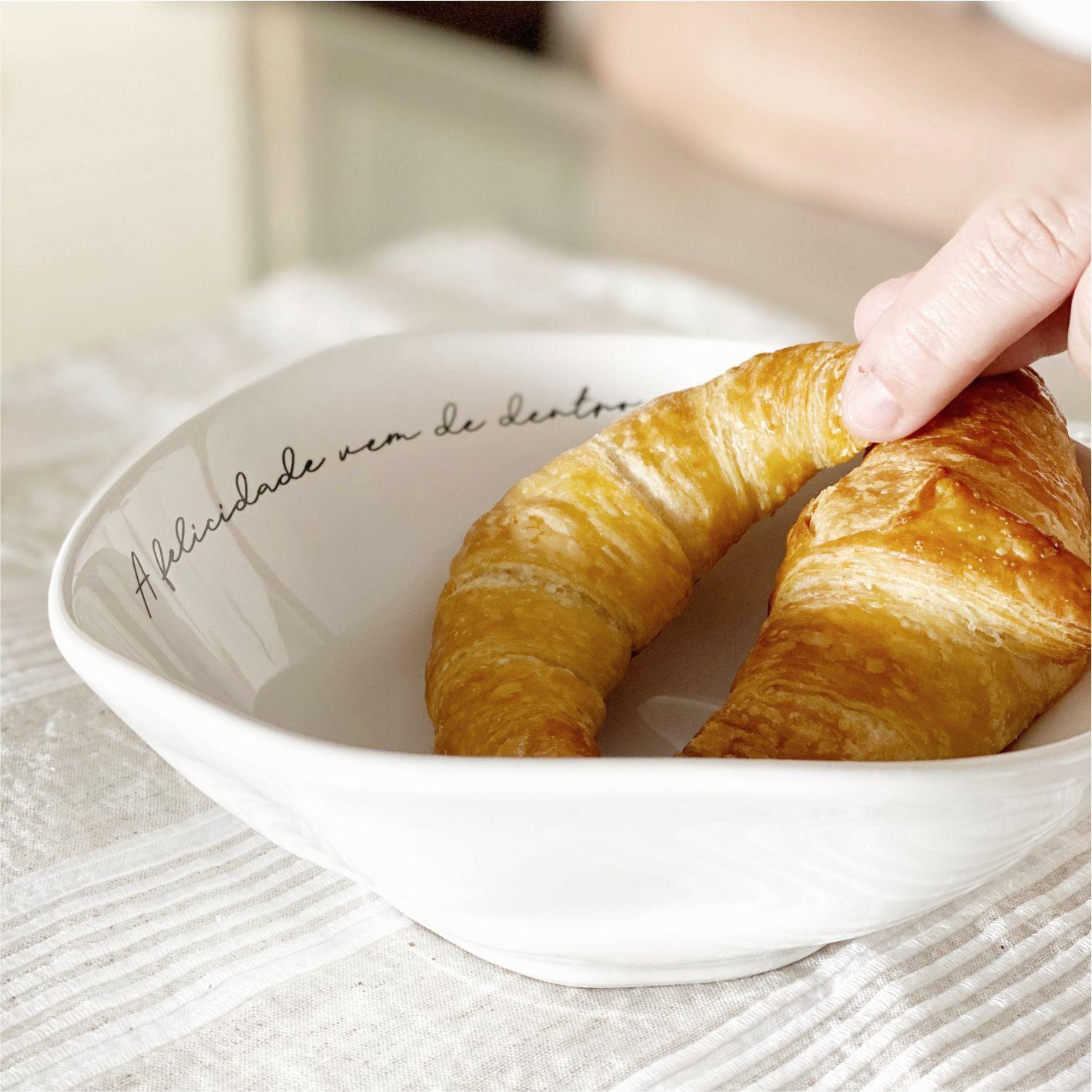 Bowl de Porcelana A Felicidade Vem de Dentro Com Coração