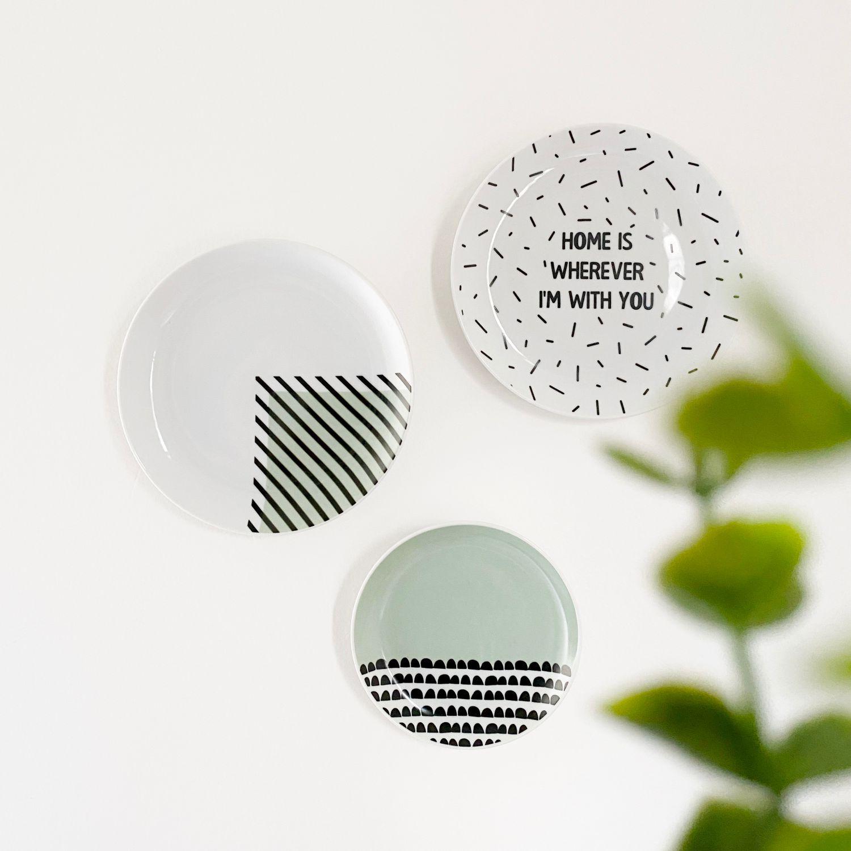 Prato de Porcelana Decorativo com Frase Home