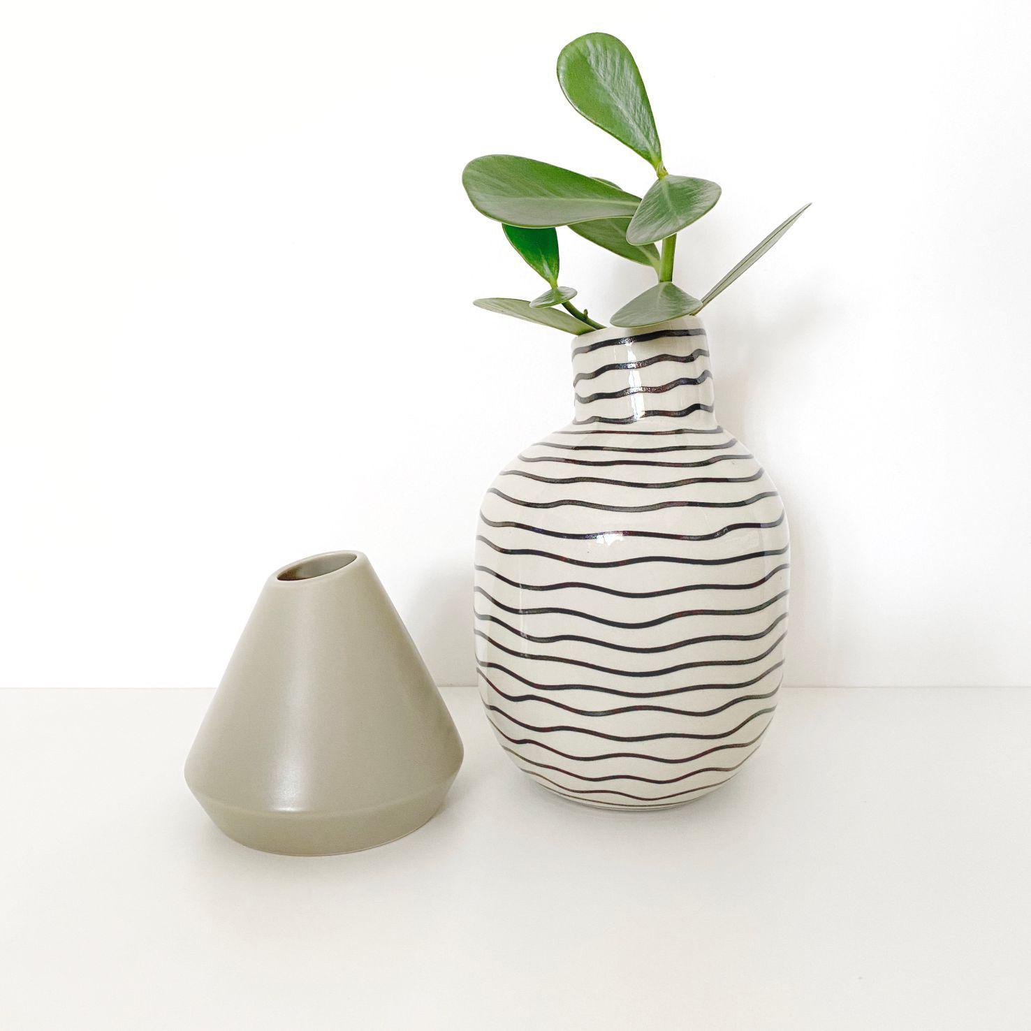 Vaso de Cerâmica Cone Bege