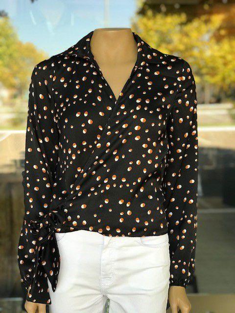 Blusa Feminina Estampada Amarrado Transpassado