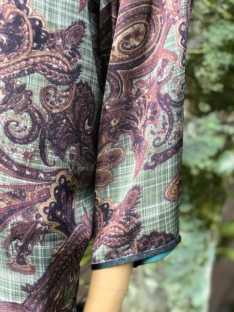 Blusa Feminina Plus Size Marrom Estampada