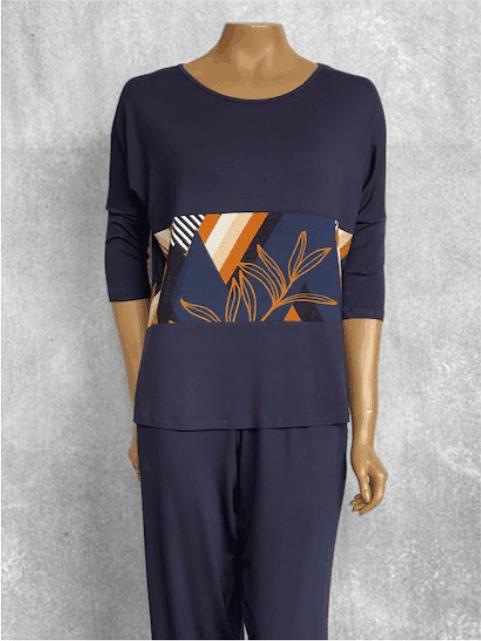 Calça Feminina de Viscolycra Mariantônia Azul Marinho