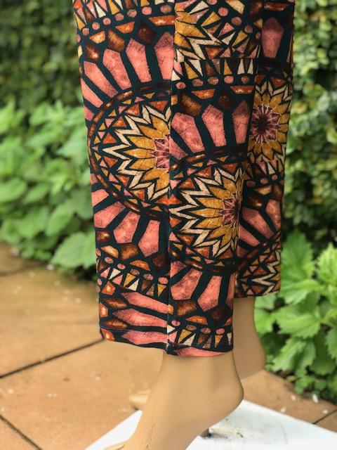 Calça Pijama Marrom Feminina Viscolycra Mariantônia Estampa Índia