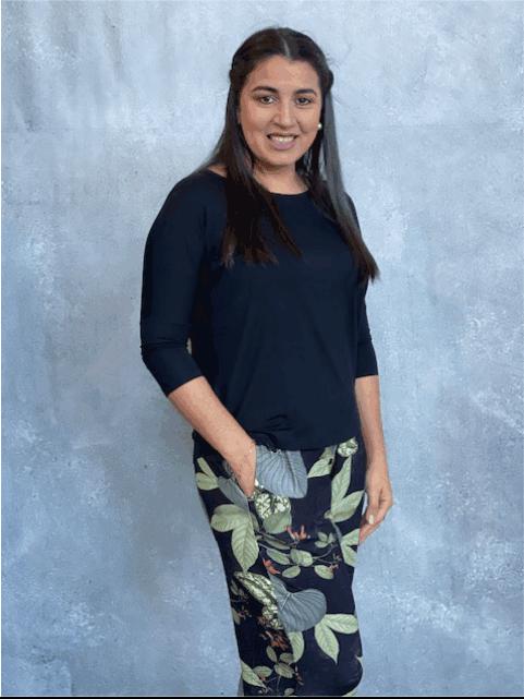 Calça Feminina de Viscolycra Mariantônia Estampada Verde e Preto