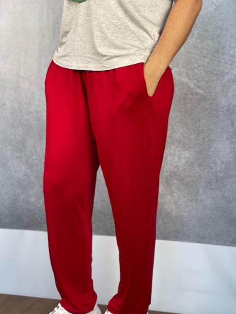 Calça Feminina de Viscolycra Mariantônia Vermelha