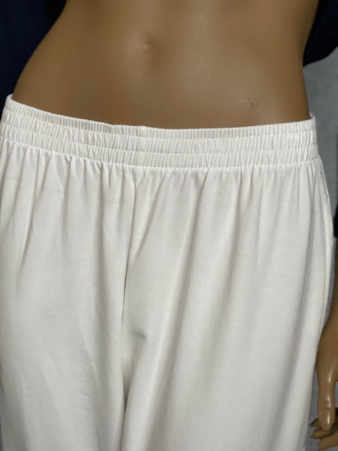 Calça Pijama Feminina Moletinho Mariantônia Viscolycra Branca