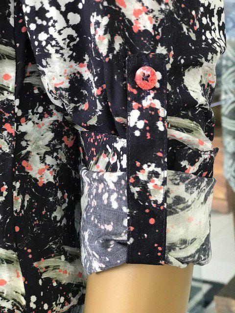 Camisa Social Estampada Feminina