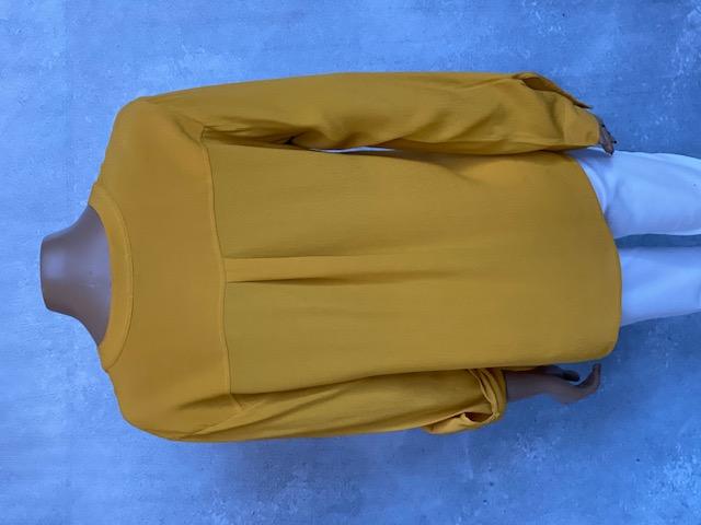Camisa Feminina Manga Longa Amarela