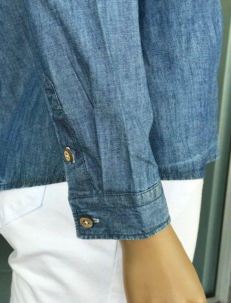 Camisete Jeans Feminina Manga Longa
