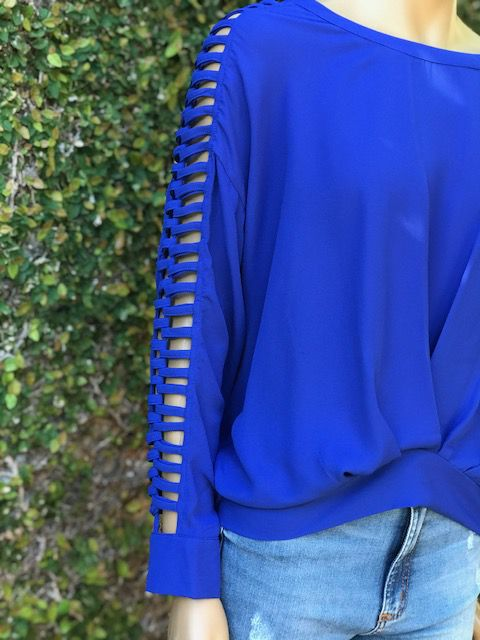 Blusa Feminina Manga Longa Azul