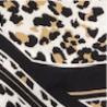 Estampa Animal Print Preta, Dourada e Off White