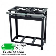 FOGÃO INDUSTRIAL ATIVO CRISTAL AÇO ALTA PRESSÃO 2 BOCAS 5231 S/FORNO