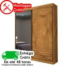 ROUPEIRO PANAN 2 PORTAS BIA C/PÉS E ESPELHO (100% MDF)