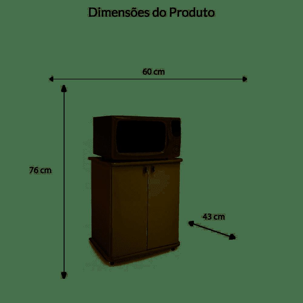 BALCÃO MOVELBENTO ASM-155 2PTS BRANCO