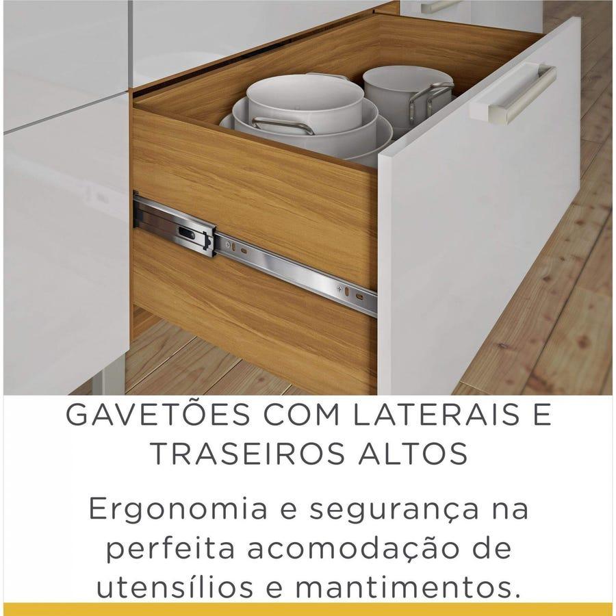 BALCÃO NESHER BURGUESA 2PORTAS 3 GAVETAS 120