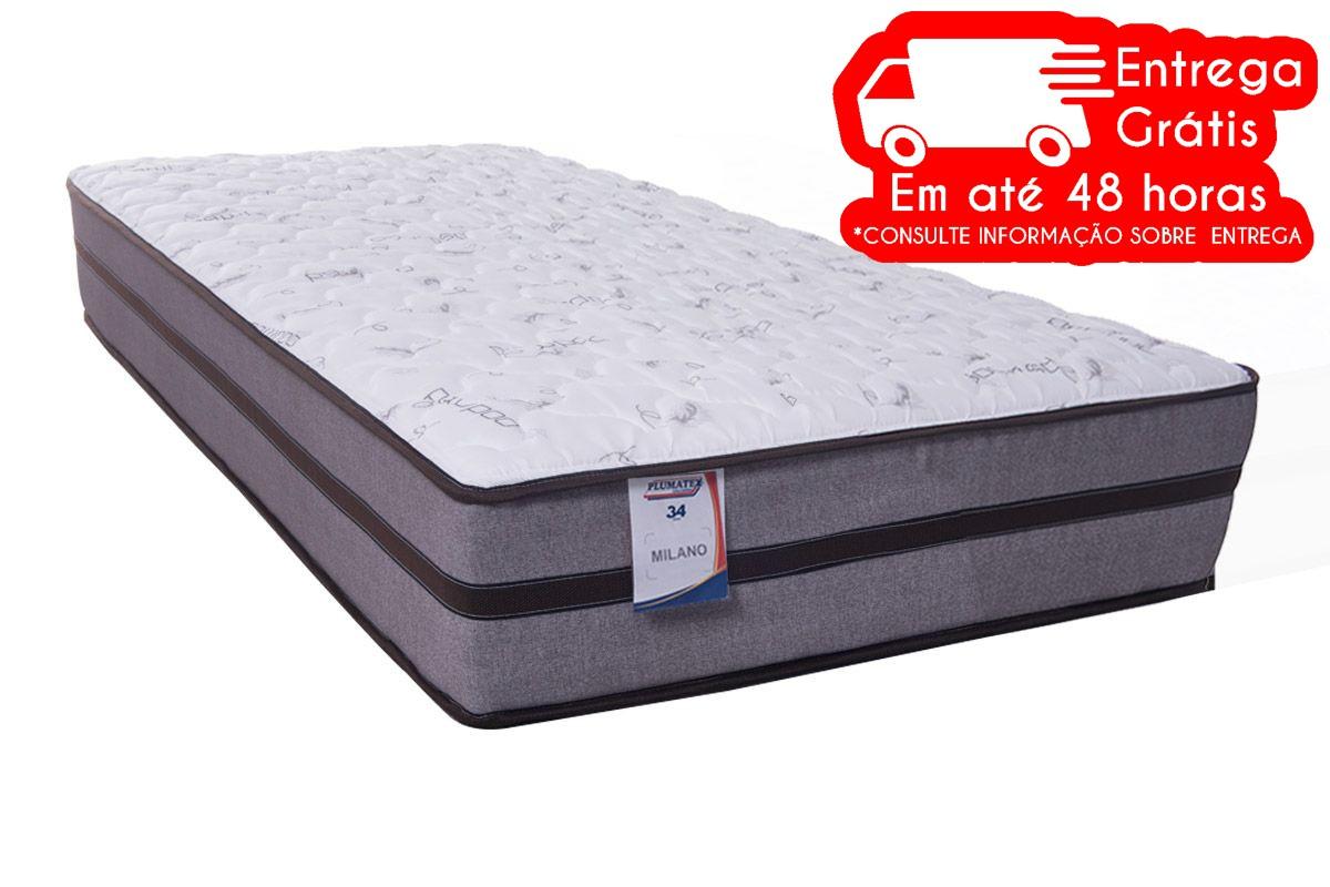 COLCHÃO PLUMATEX MOLA ENSACADA MILANO 88X24 (MOLA)