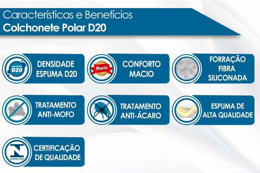 COLCHONETE POLAR D20 128X08
