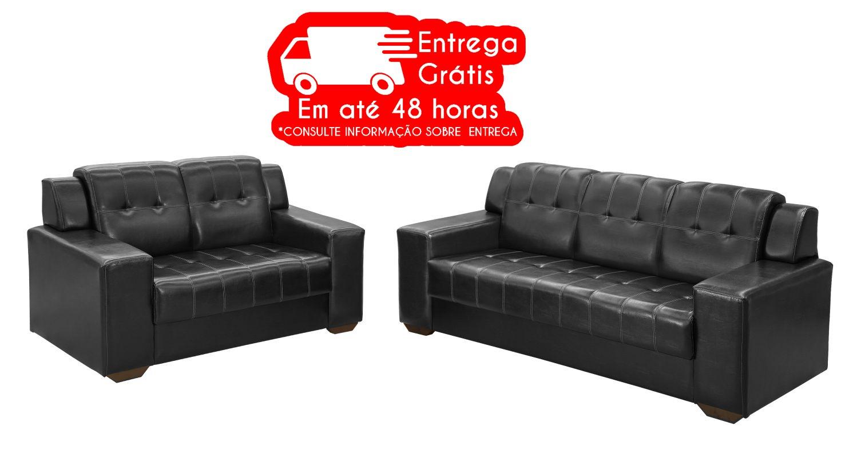 CONJUNTO ESTOFADO RONDOMOVEIS 660 2 E 3 LUGARES COSS CAFÉ