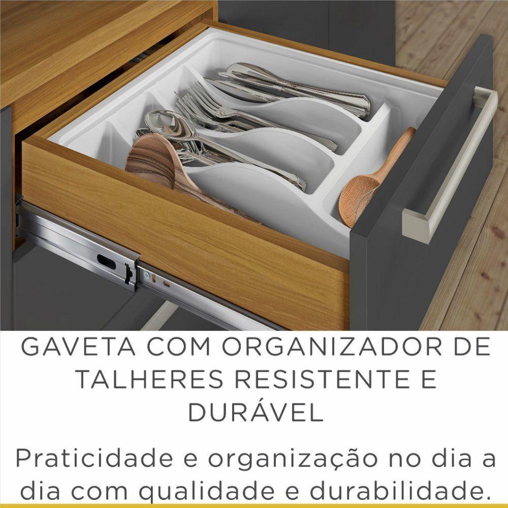 COZINHA NESHER BURGUESA FREIJÓ/GRAFITE 5 PEÇAS