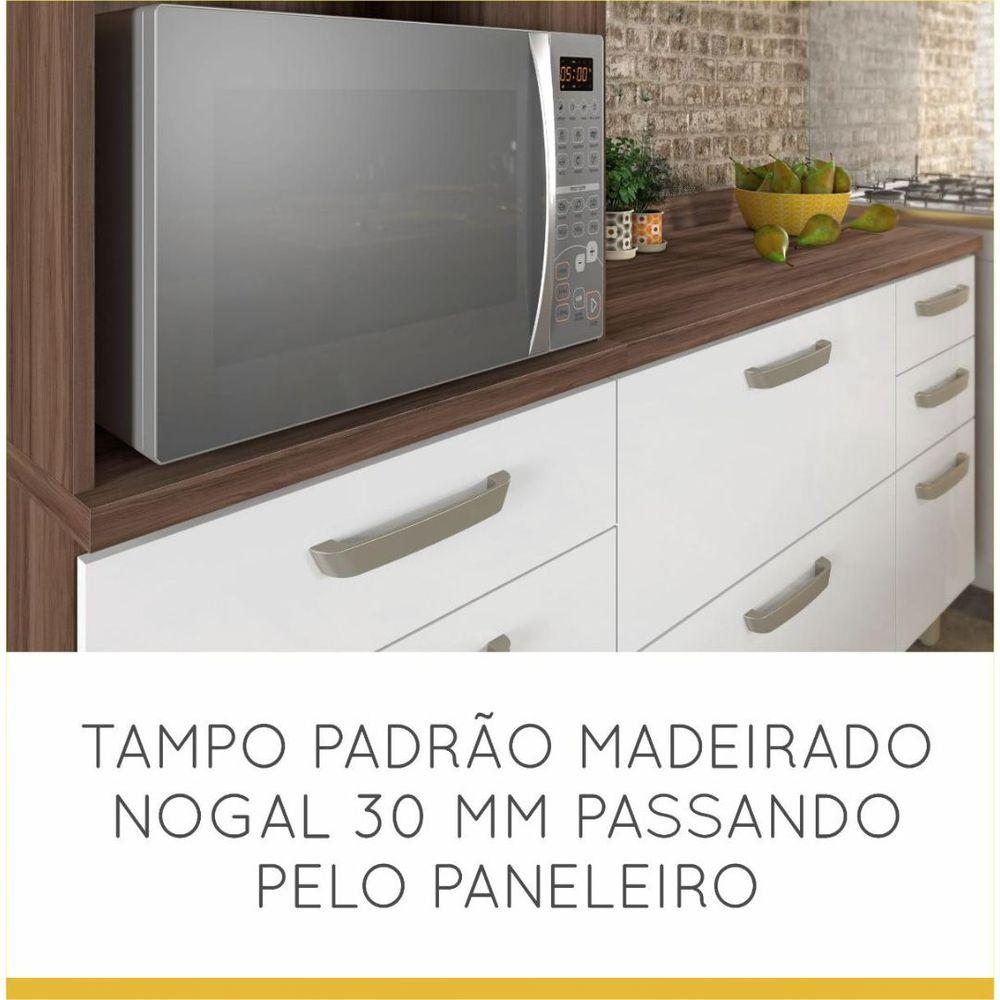 COZINHA NESHER CONDESSA NOGAL/BRANCA 3 PEÇAS