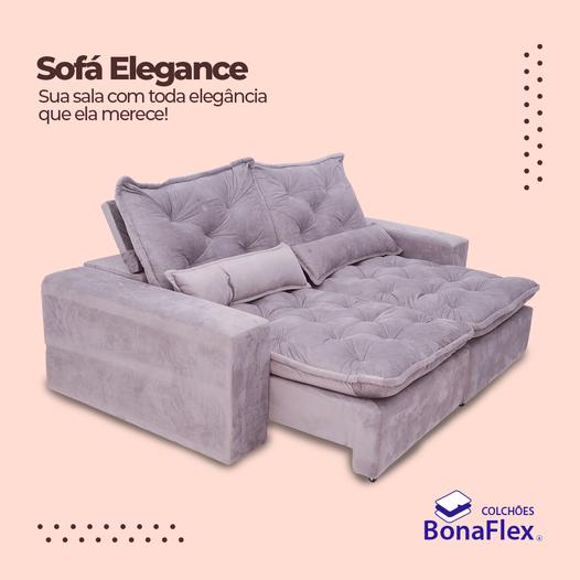 SOFÁ RETRÁTIL RECLINÁVEL BONAFLEX ELEGANCE 2.30 MARROM