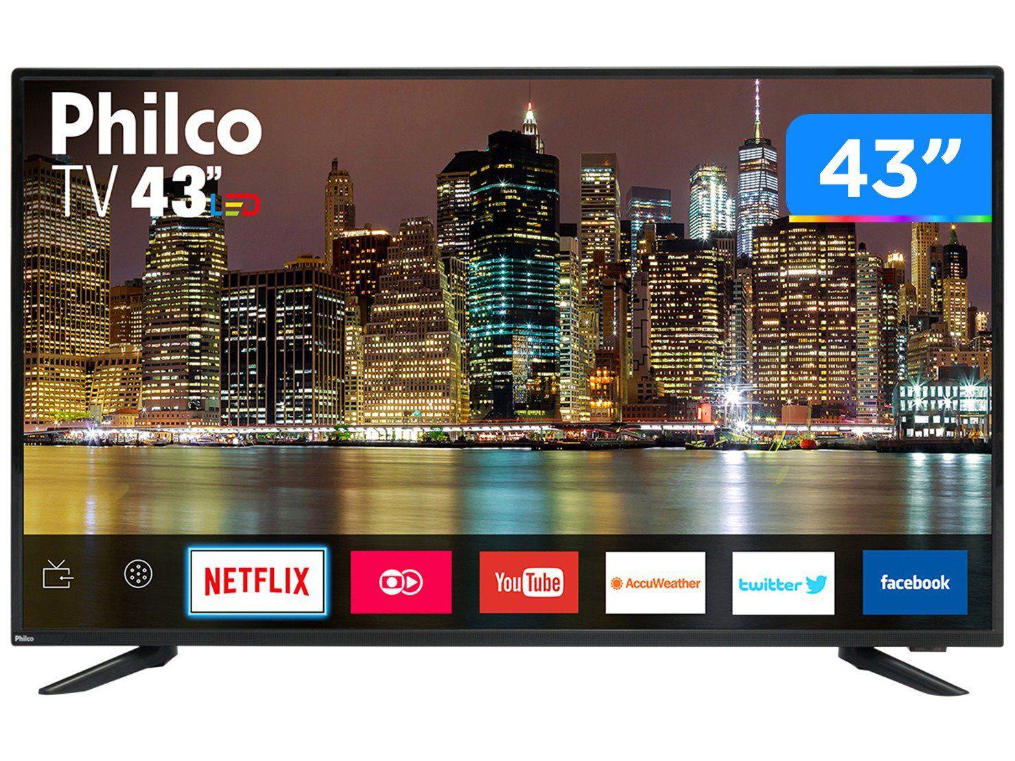 """TV PHILCO 43"""" LED PTV43E60S SMART FHD"""