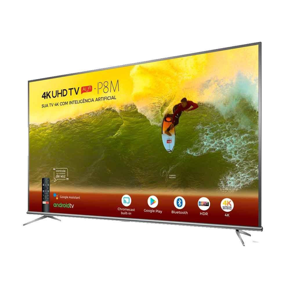 """TV TCL LED 50"""" 50P8M COMANDO DE VOZ SMART 4K"""