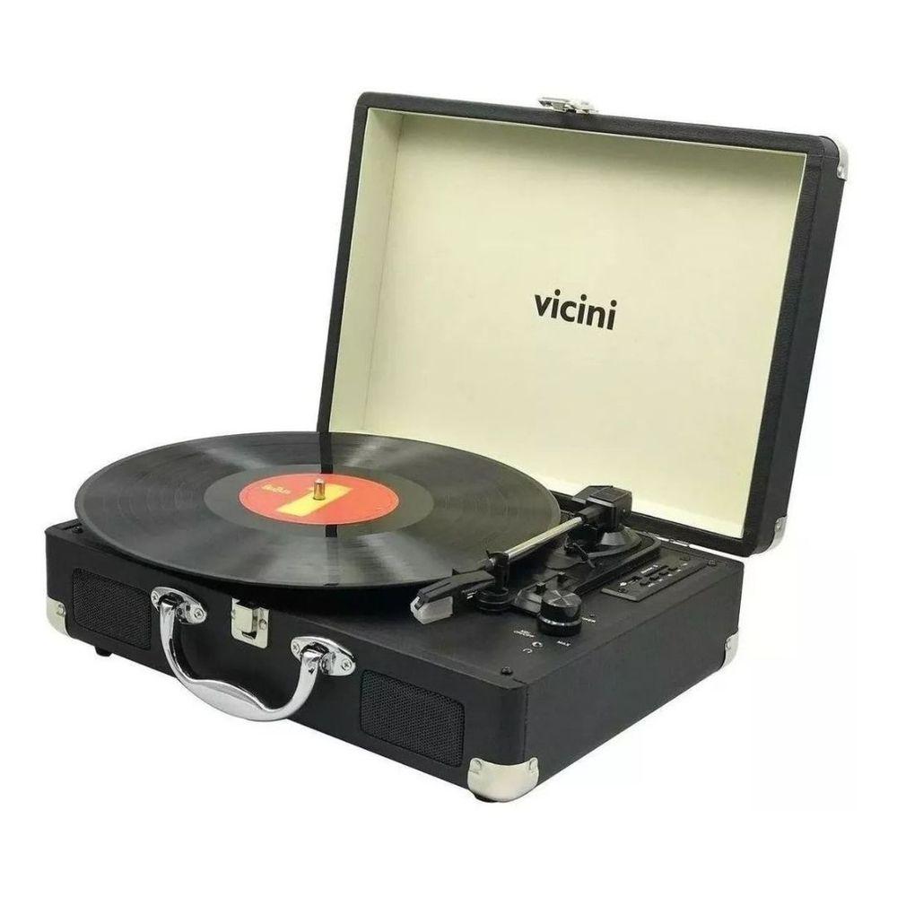 VITROLA VICINI MALETA VC285 PRETA
