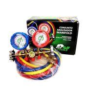 Manifold Ar Condicionado Inverter Gás R410A R22 R134 R404 R407 Mangueiras 1,5 Cm