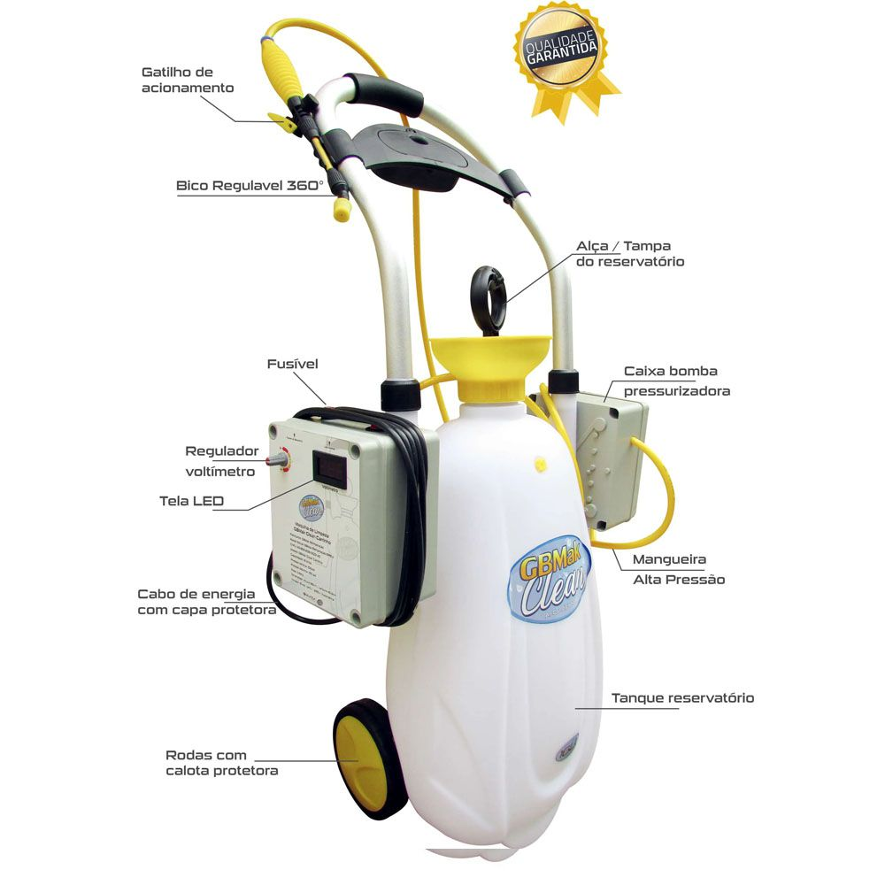 Máquina De Limpeza Gbmak Clean Carrinho 16l Completo