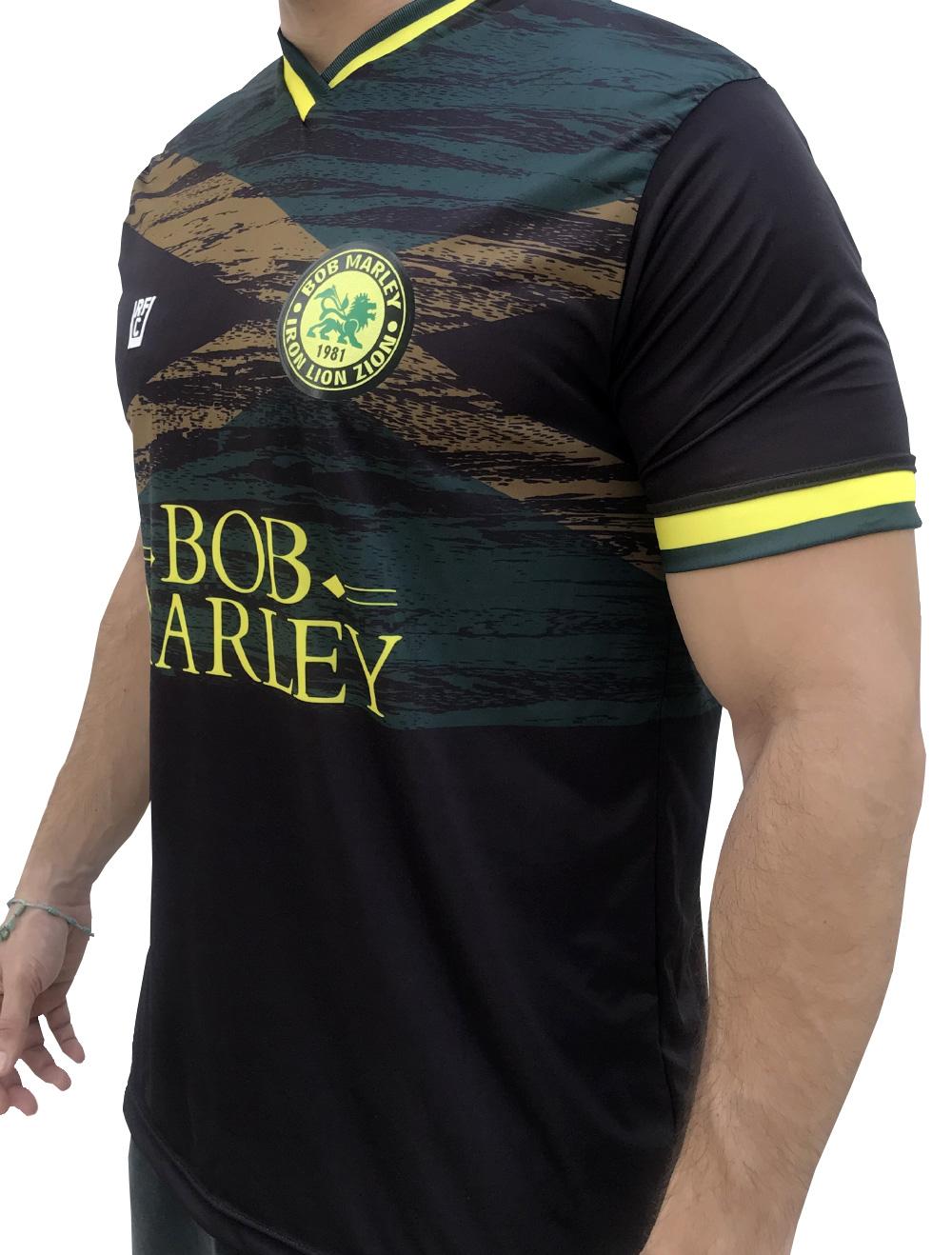 CAMISA DE FUTEBOL  BOB MARLEY JAMAICA - PRETA