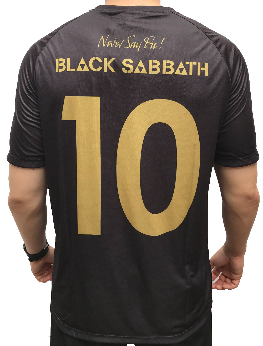CAMISA DE FUTEBOL BLACK SABBATH - NEVER SAY DIE