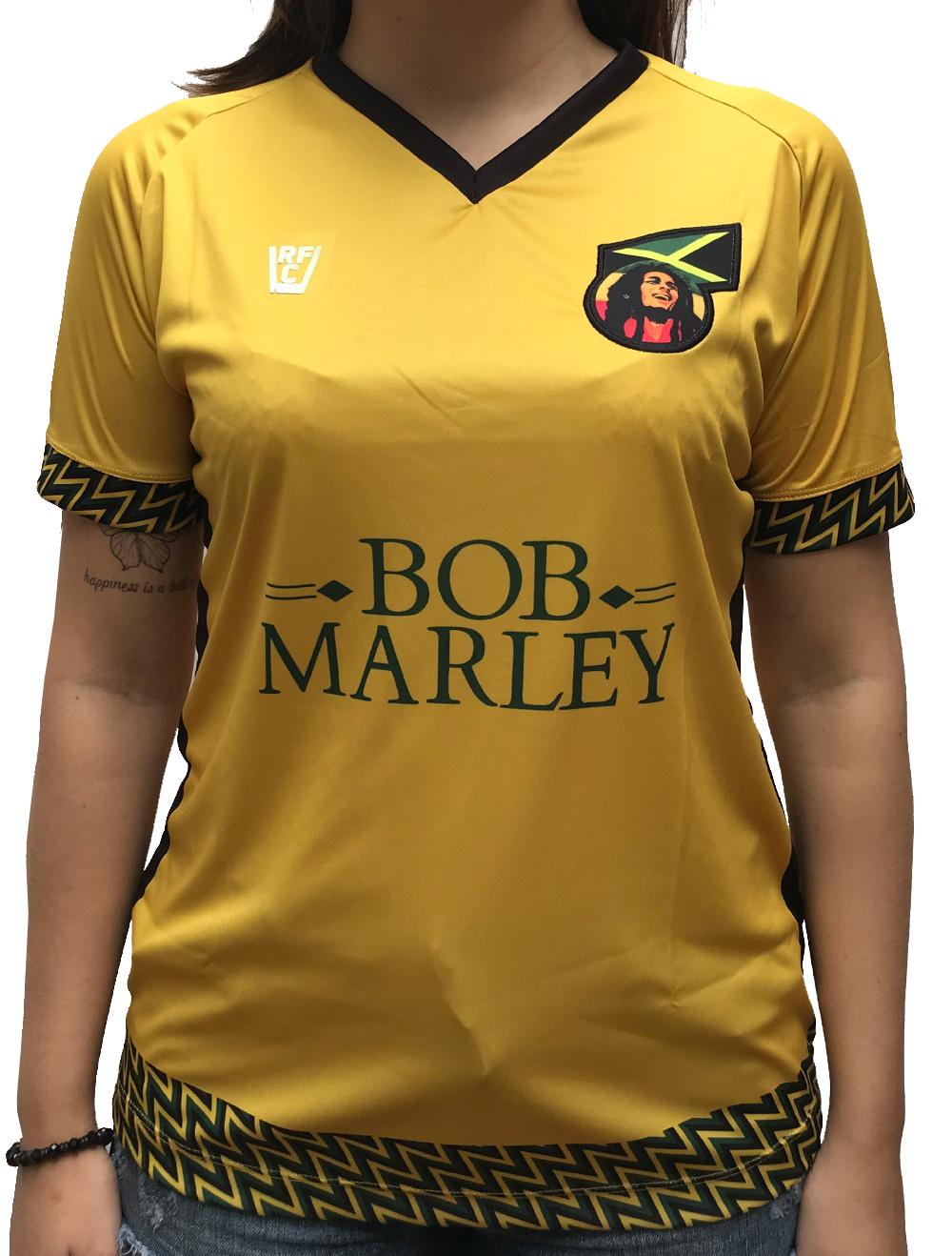 CAMISA DE FUTEBOL  BOB MARLEY JAMAICA - AMARELA