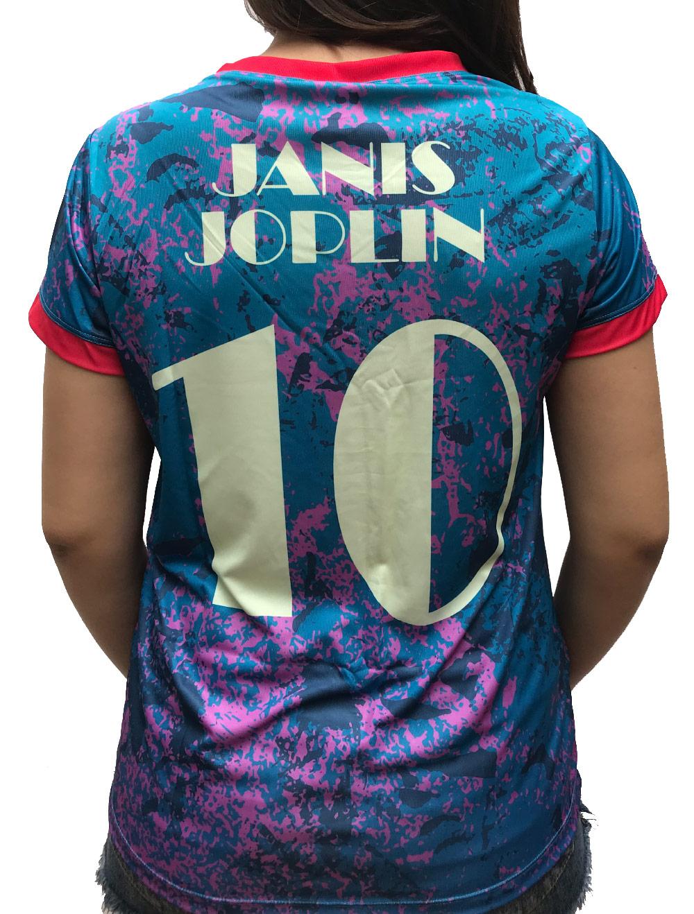 CAMISA DE FUTEBOL JANIS JOPLIN
