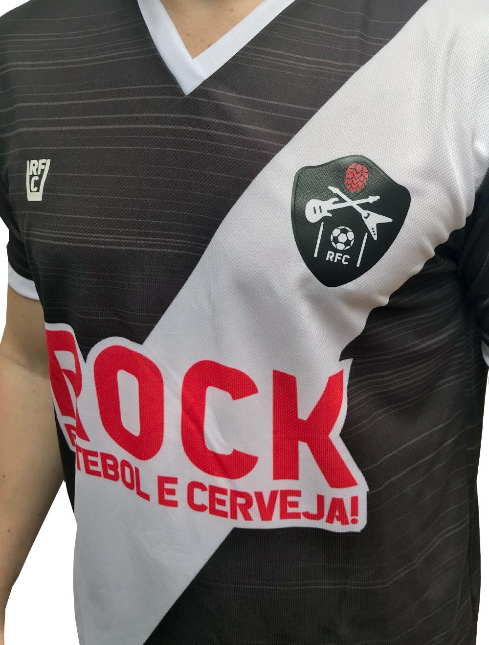 CAMISA DE FUTEBOL ROCK, FUTEBOL E CERVEJA - VASCO