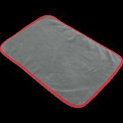 Pano de Microfibra Cinza 37x57cm 600gsm Borda Vermelha