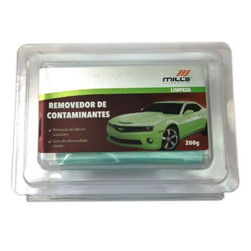 Clay Bar - Removedor de Contaminantes 200g - Suave Verde
